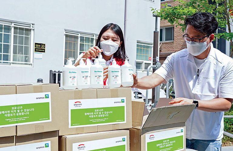 الشركة تساند جهود المجتمعات المحلية لمكافحة الجائحة في مختلف أنحاء آسيا
