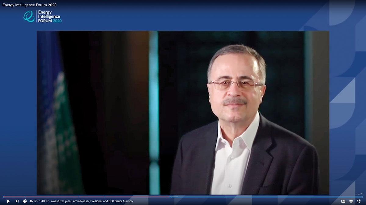 الناصر يفوز بشخصية العام التنفيذية في مجال الطاقة لعام 2020م
