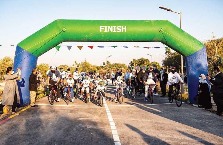 مسار جديد لركوب الدراجات الهوائية في الظهران