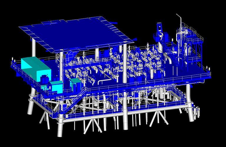إنجاز مسوحات ونمذجة رقمية للمرافق البحرية في حقل المرجان