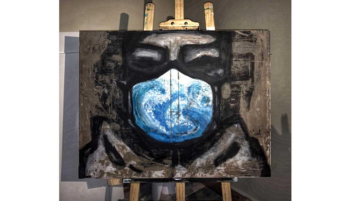 إثراء يفتتح معرض (كوفيد-19) عبر 270 قطعة فنية