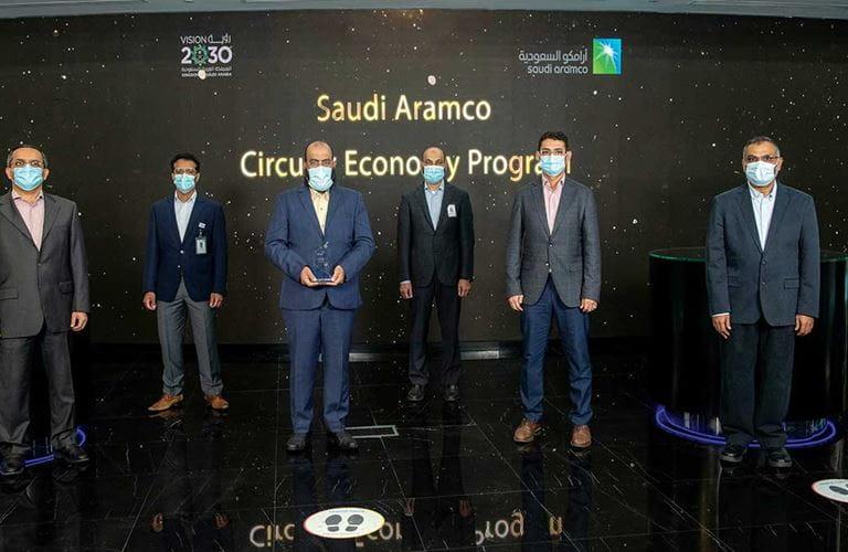 تكريم أرامكو السعودية بجائزة الريادة العالمية في الاقتصاد الدائري
