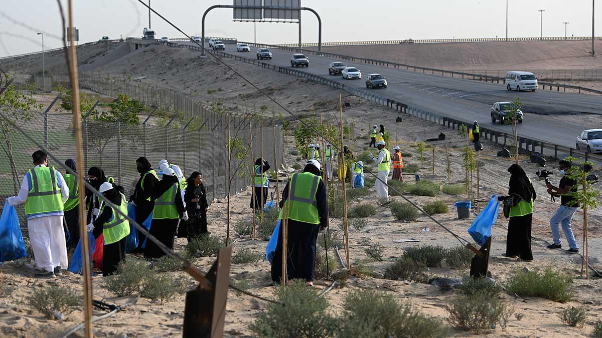 عشرات المتطوعين والمتطوعات يشمّرون عن سواعدهم احتفاء باليوم العالمي للبيئة
