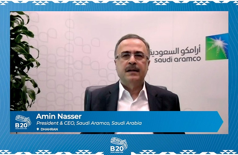 Aramco deepens focus on climate actions, CEO tells B20 summit