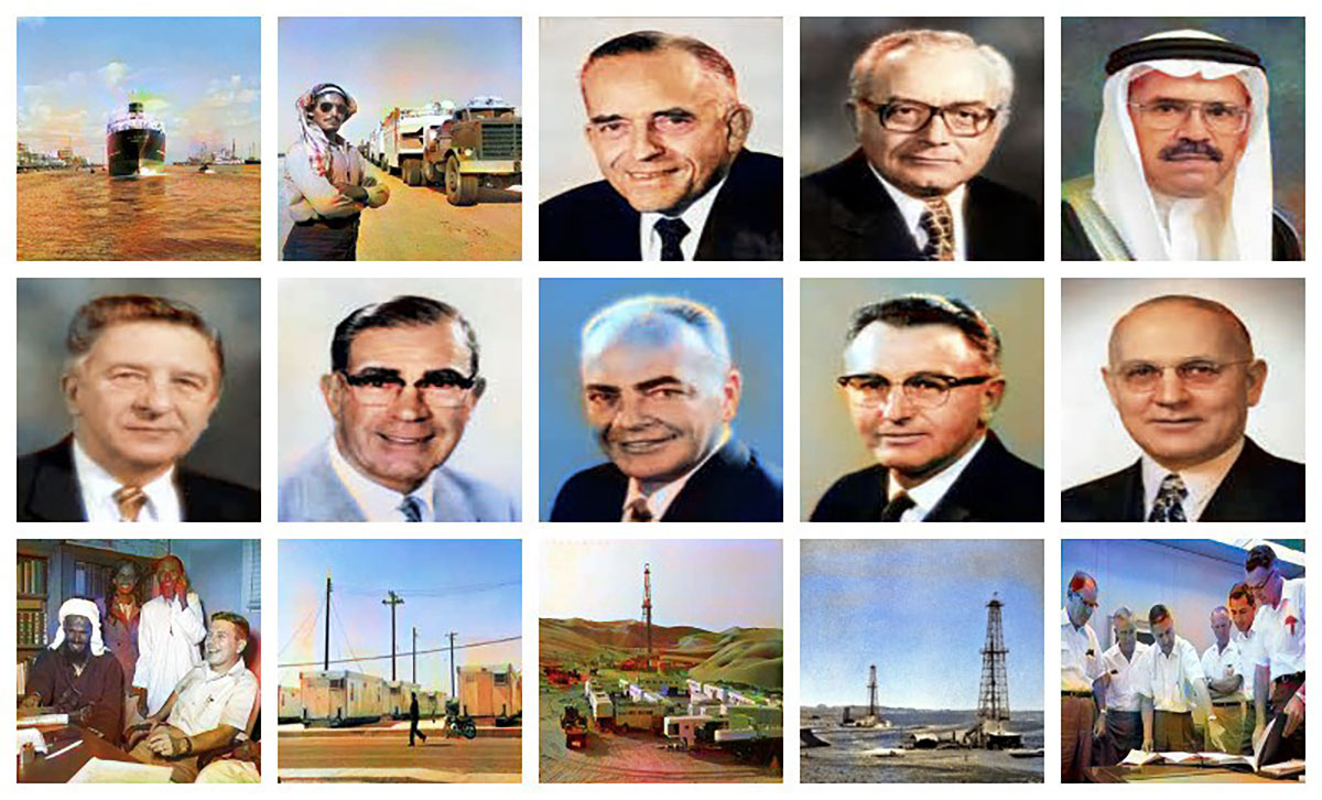 technology provides a new take on historic Aramco photos