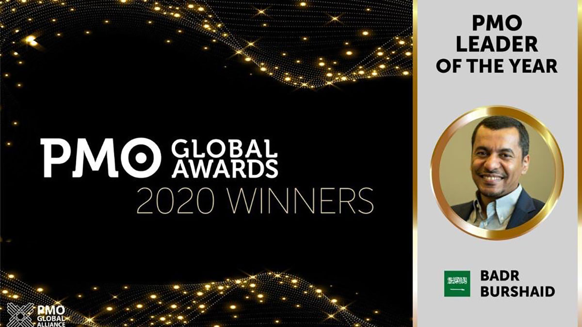 Aramco's Burshaid recognized by PMO Global Alliance