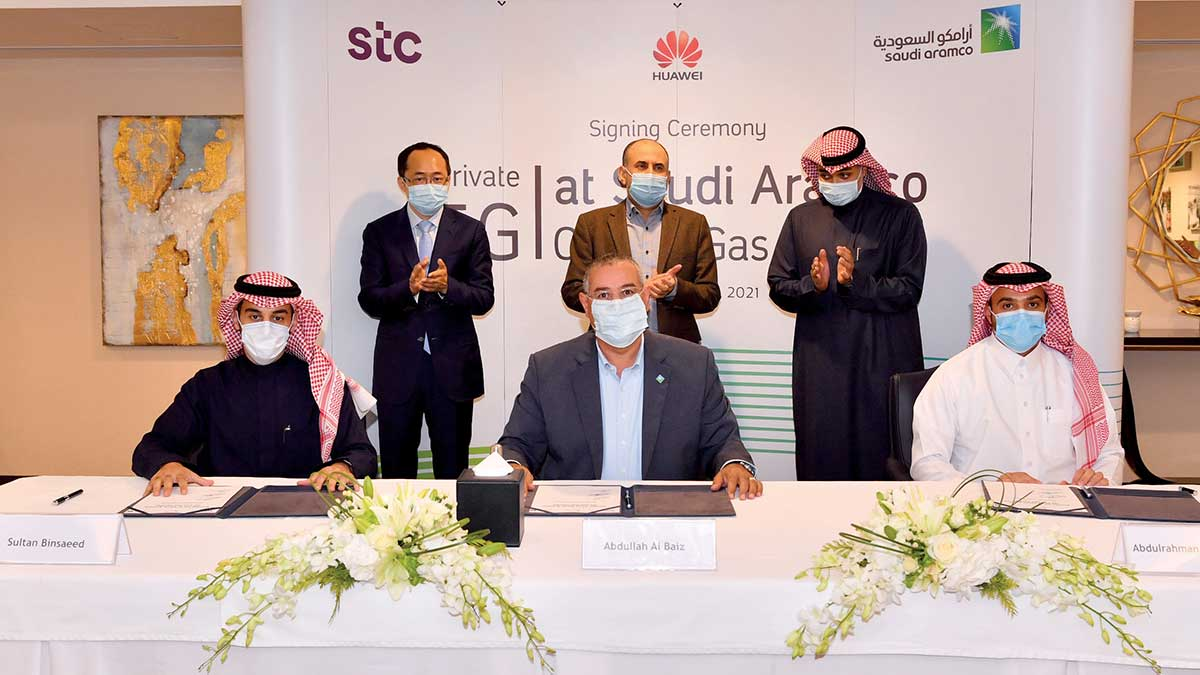 Aramco signs MoU with STC and Huawei