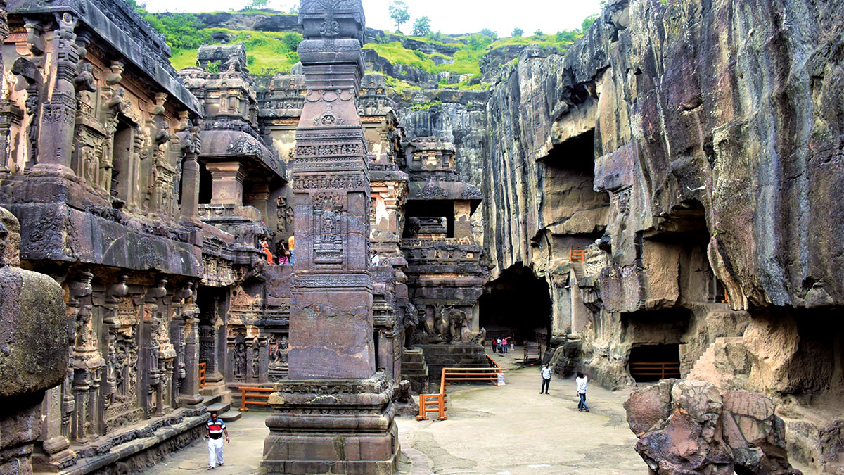 One of many rock cut temples