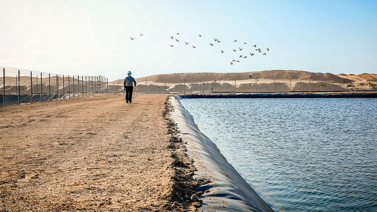 مشروع بيئي لتوفير مياه مُستدامة لأعمال تطوير الموارد غير التقليدية