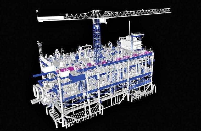 3-D laser technology solves offshore platform upgrade challenge