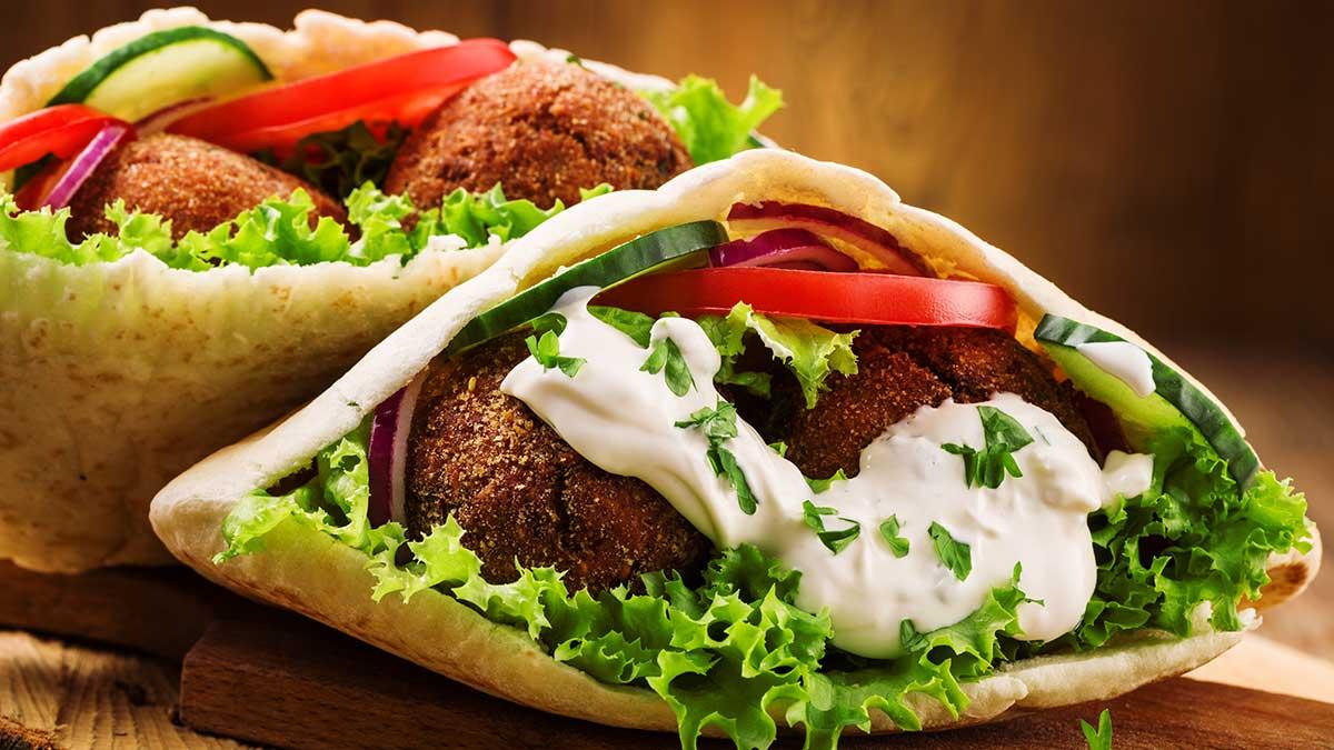 JHAH Healthy Recipe:  Falafel pita sandwich