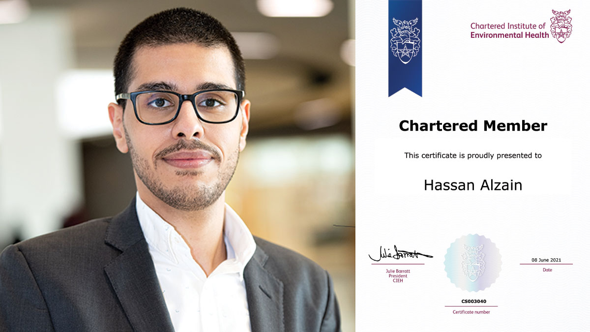 GCC's first Chartered Environmental Health Practitioner